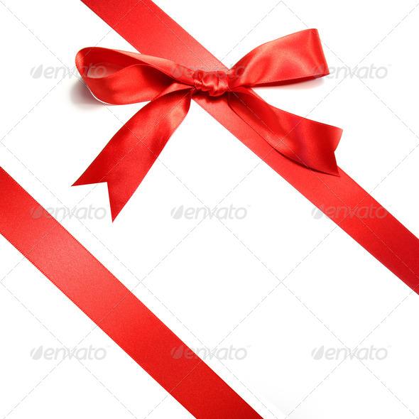 PhotoDune Holiday red bow islotated on white background 696780