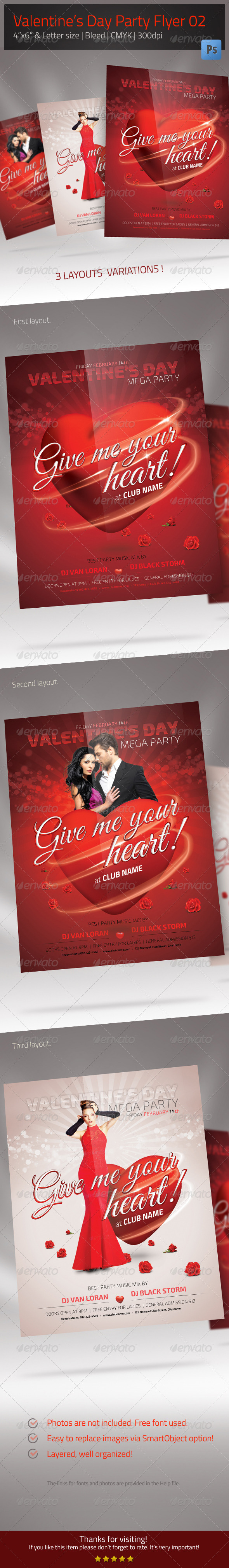 GraphicRiver Valentine's Day Flyer 02 6643690