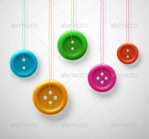 GraphicRiver Colorful Sewing Buttons 6643698