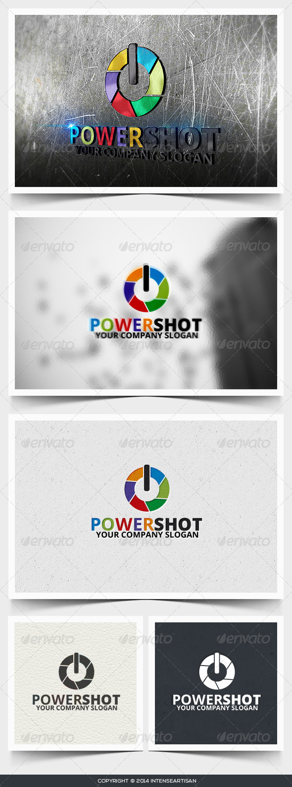 Power Shot Logo Template - Objects Logo Templates