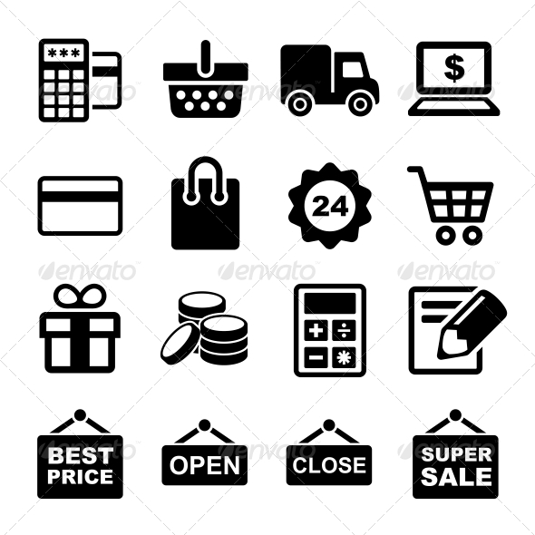 GraphicRiver Shopping Icons Set 6643755