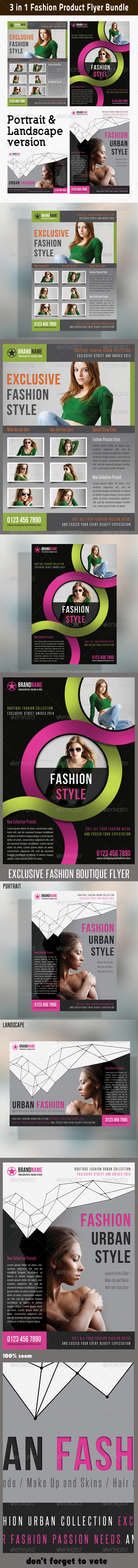 GraphicRiver 3 in 1 Fashion Product Flyer Bundle 09 6643757
