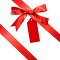 Holiday red bow islotated on white background - PhotoDune Item for Sale