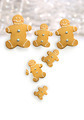 Gingerbread men cookies against  white - PhotoDune Item for Sale