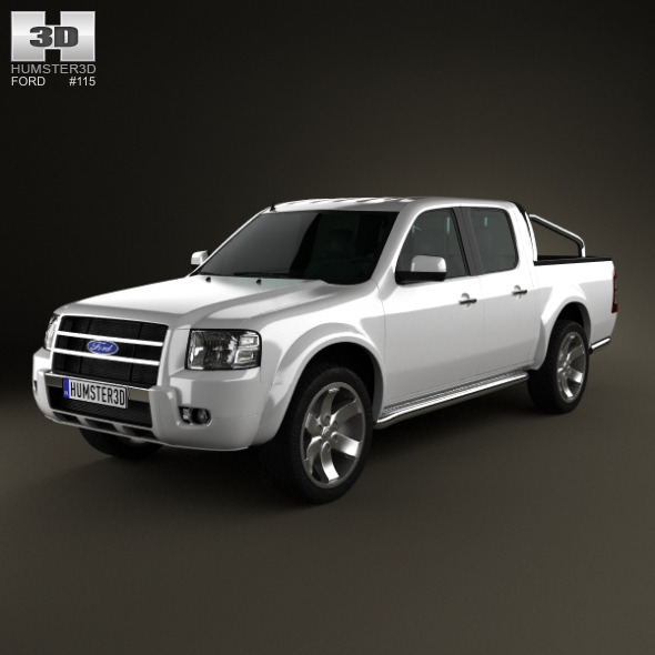 3DOcean Ford Ranger Double Cab 2003 6643803