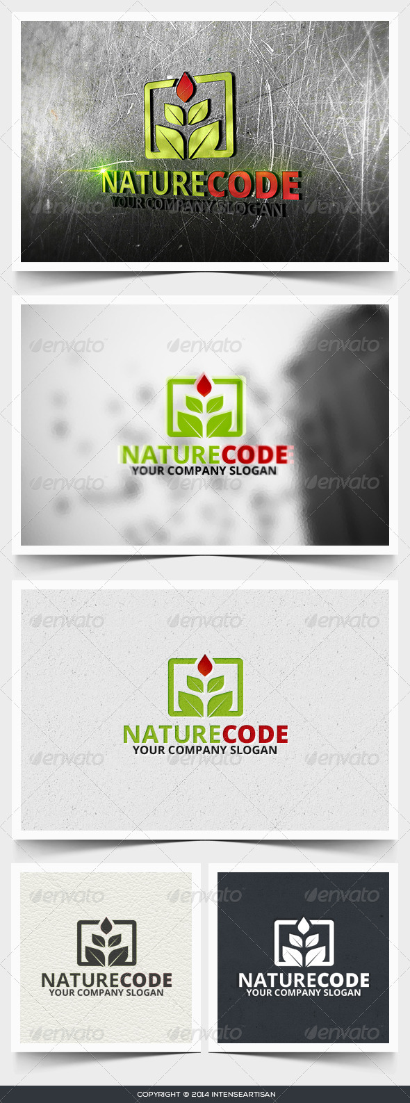 Nature Code Logo Template - Nature Logo Templates
