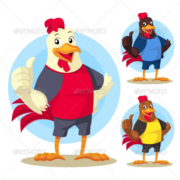 GraphicRiver The Rooster Mascot 6644029