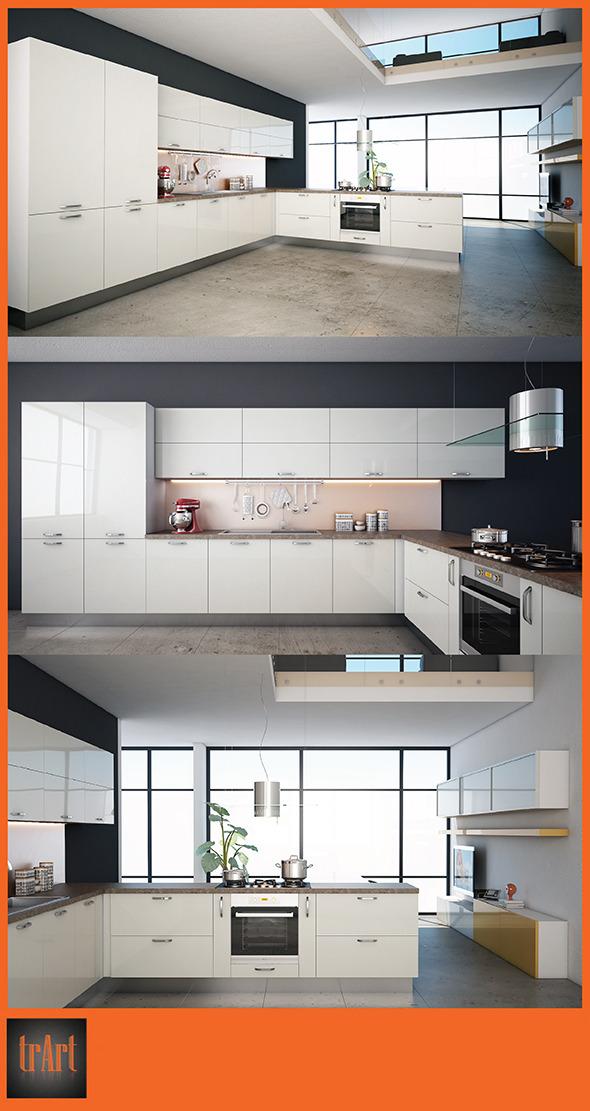 3DOcean Kitchen Render Scene 6644041