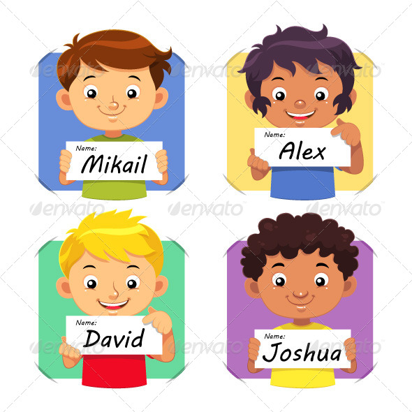 Boys Name 01   - People Characters
