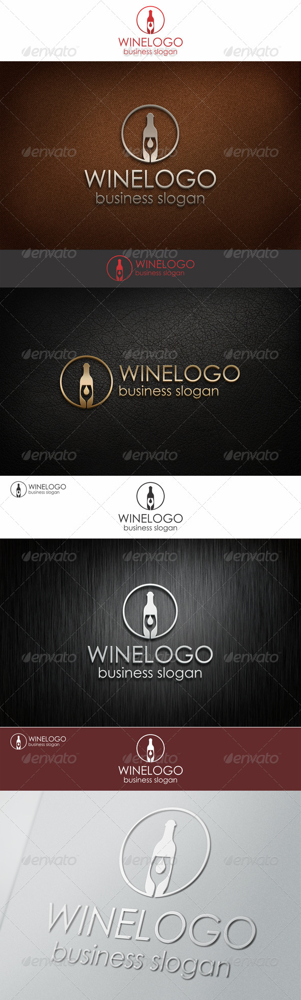 Elegant Wine Logo Template - Food Logo Templates