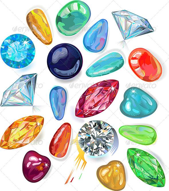 GraphicRiver Array of Precious Stones 6525968