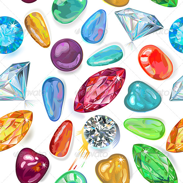 GraphicRiver Seamless Texture of Colored Gems 6526119