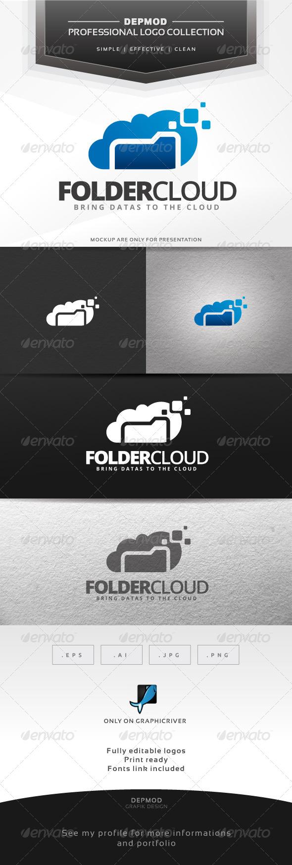 GraphicRiver Folder Cloud Logo 6644301