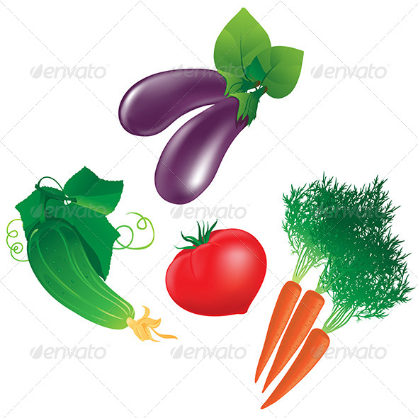 GraphicRiver Four Different Vegetables 6644541