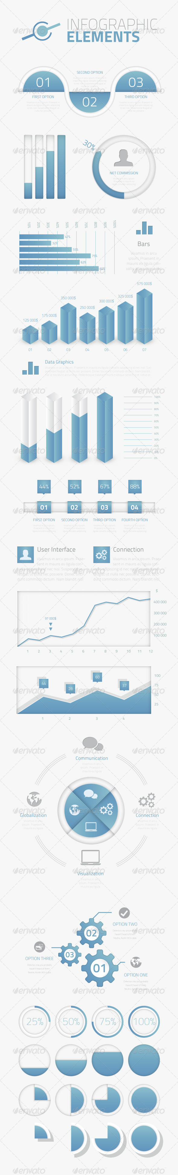 GraphicRiver Mega Pack of Infographic Vector Elements 6644560