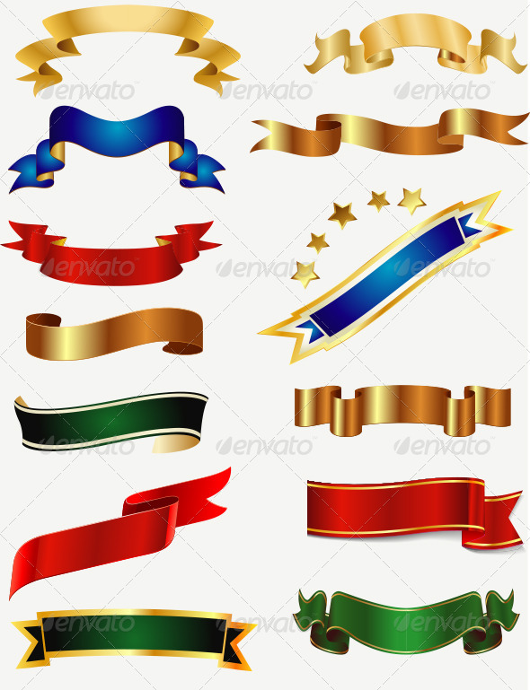 GraphicRiver Ribbons and Banners Set 6644611