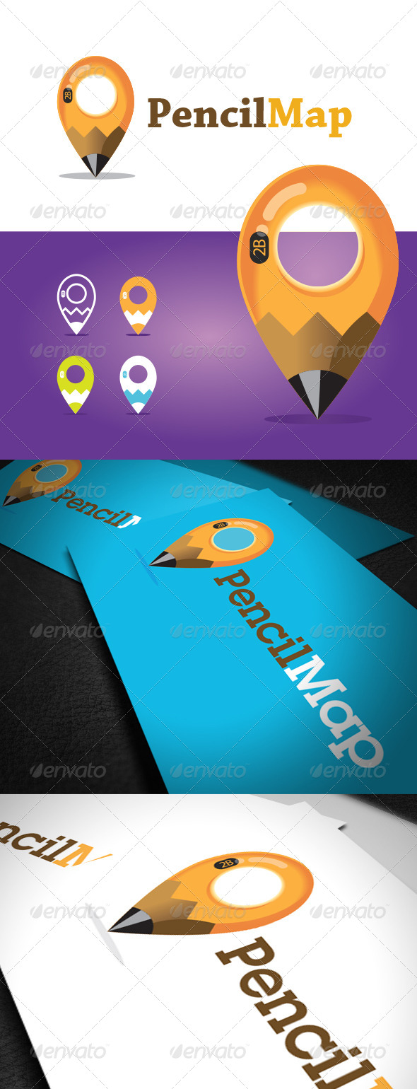 GraphicRiver Pencil Map Logo Template 6644781