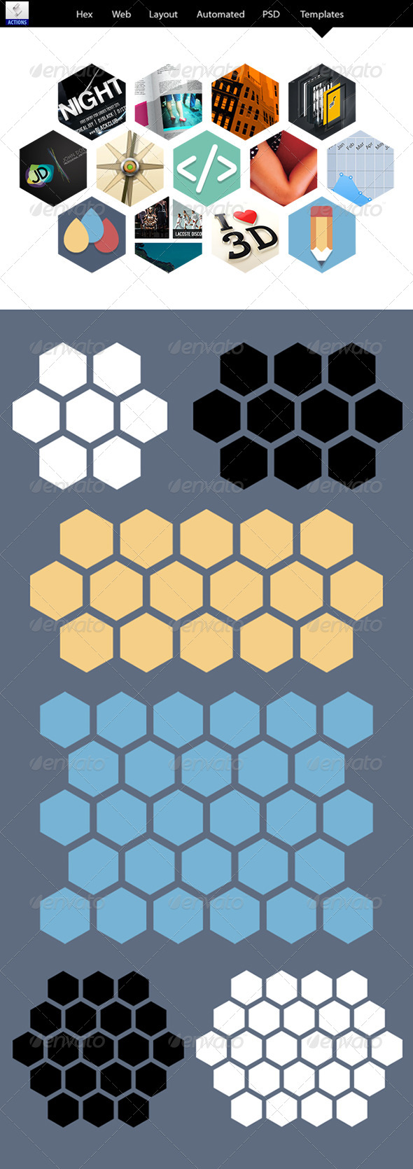 GraphicRiver Hex Web Layouts Automated PSD Templates 6645051