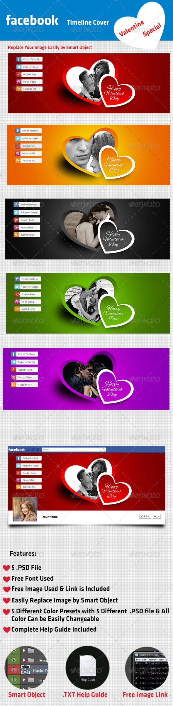 GraphicRiver Love Facebook Cover 6645252