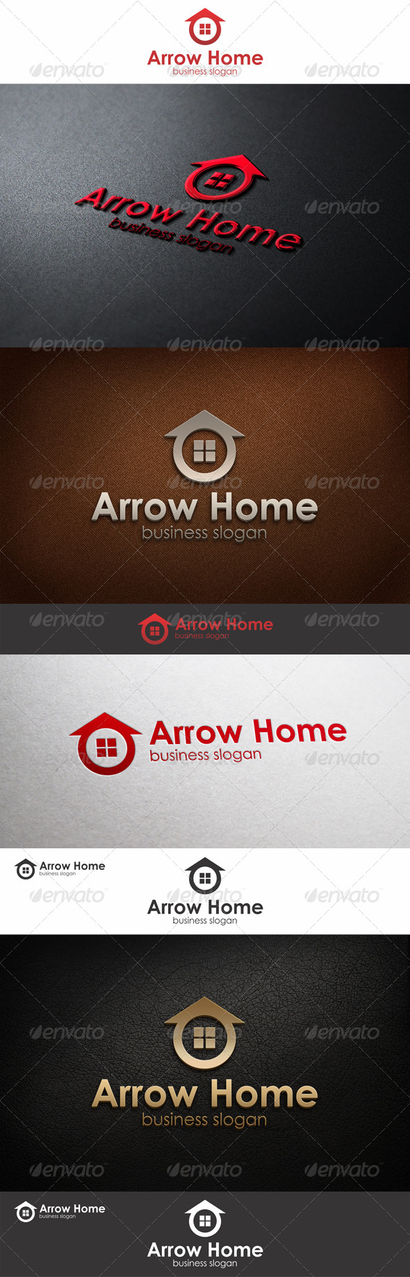 Arrow Home Logo Template - Buildings Logo Templates