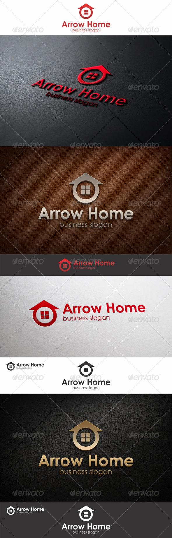 GraphicRiver Arrow Home Logo Template 6645255