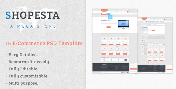 Shopesta - E-Commerce PSD Template