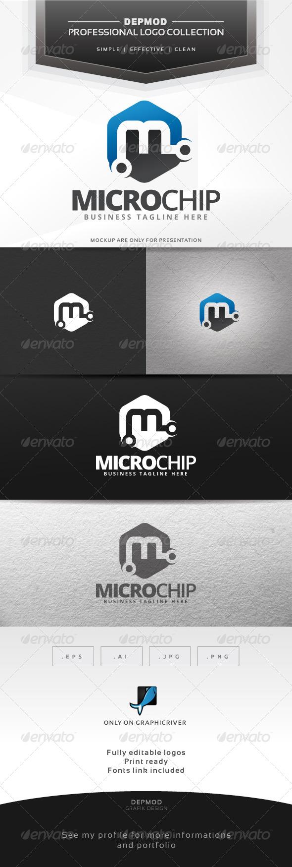GraphicRiver Micro Chip Logo 6645868