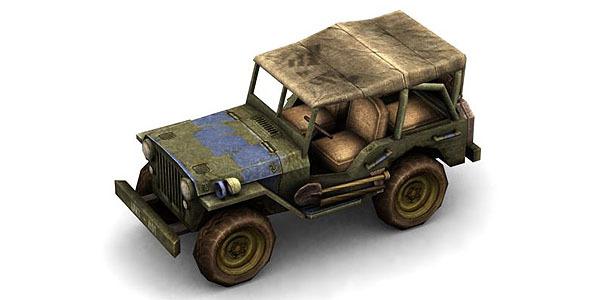 3DOcean Military Modern War Jeep Blue 6645913