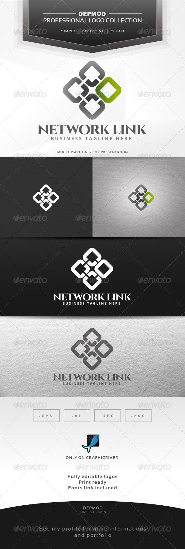 GraphicRiver Network Link Logo 6646225