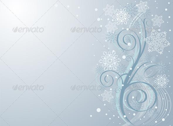 GraphicRiver Winter Swirl Background 6646276