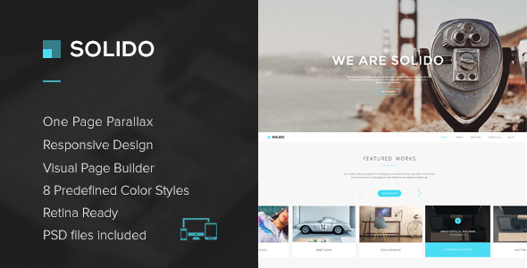 Solido - Responsive One Page Multi-Purpose Theme