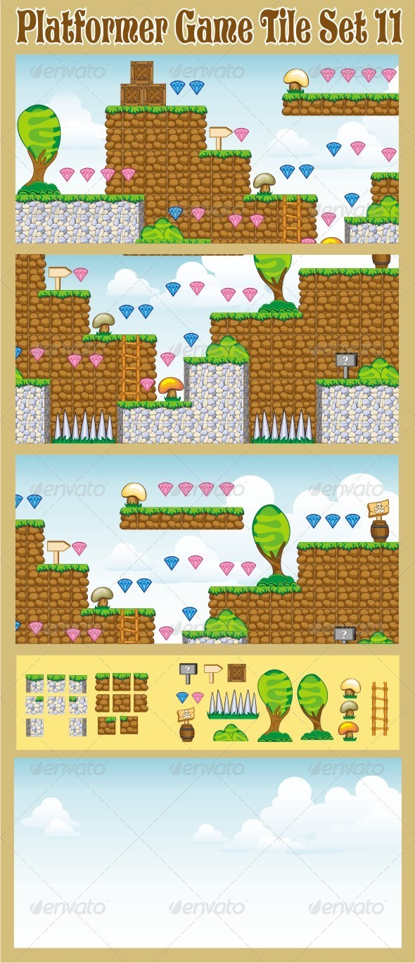 GraphicRiver Platformer Game Tile Set 11 6646293