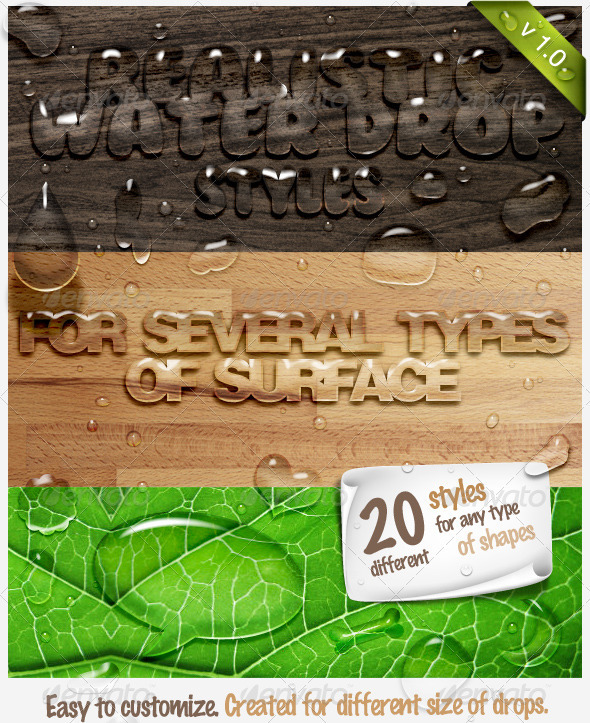 GraphicRiver Realistic Water Drop Maker 673950