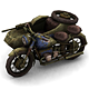 Military Modern War Motorcycle (Blue)