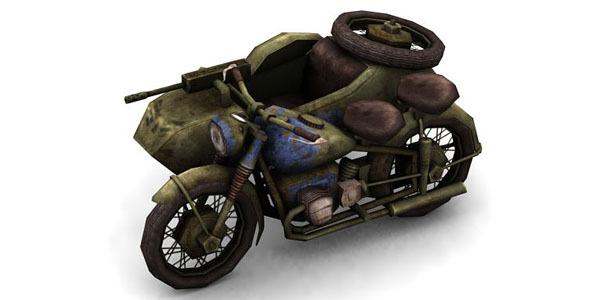 3DOcean Military Modern War Motorcycle Blue 6646515