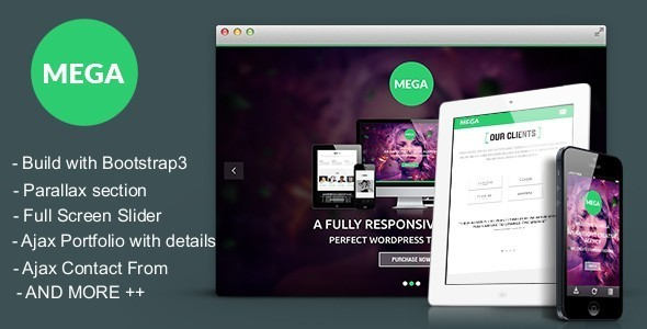 ThemeForest MEGA Responsive onepage Parallax Template 6646817