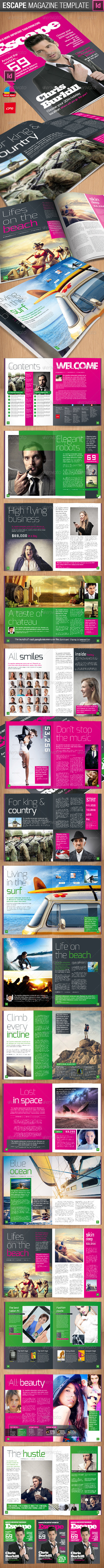 Escape Magazine Template - Magazines Print Templates