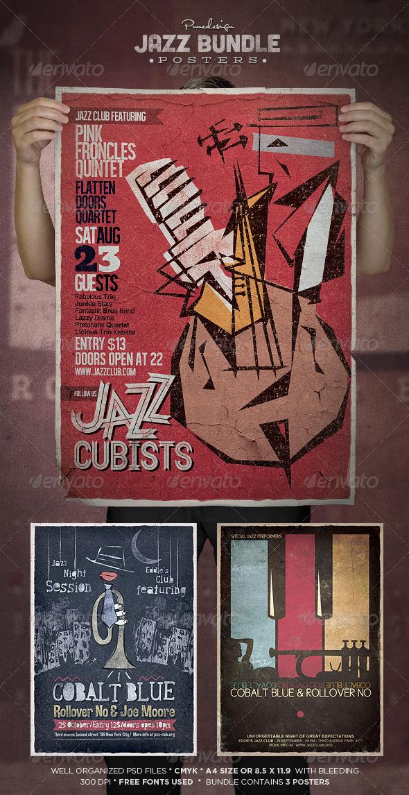 Jazz Flyer/Poster Bundle - Concerts Events