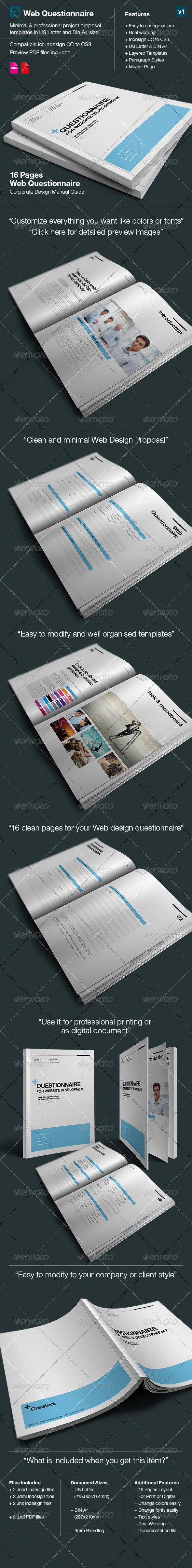 GraphicRiver Dsign Questionnaire for Web Design Proposal 6647566