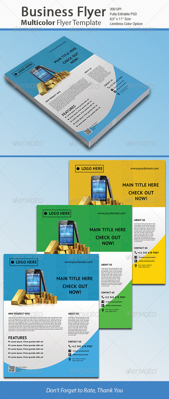 GraphicRiver Colorful Business Corporate Flyer Vol 3 6647800