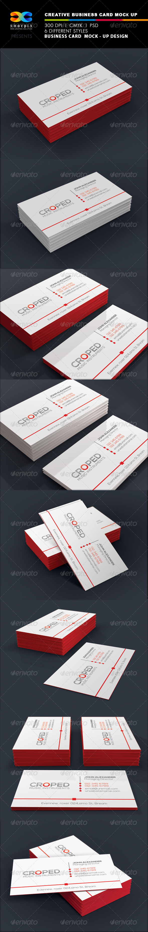 GraphicRiver Realistic Business Card Mock up 6647813