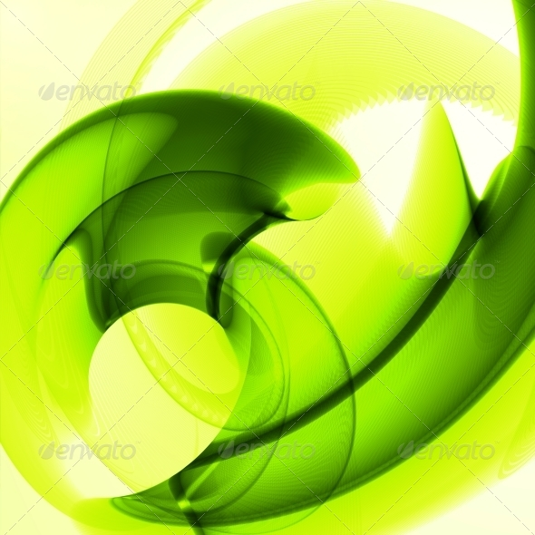 GraphicRiver Abstract Green Wave Background 6647853