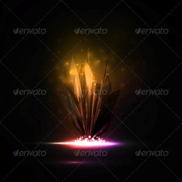 Abstract Magic Crystal