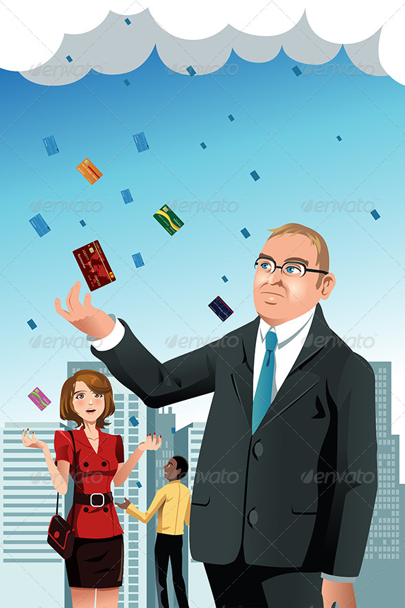 GraphicRiver Raining Credit Cards 6648351