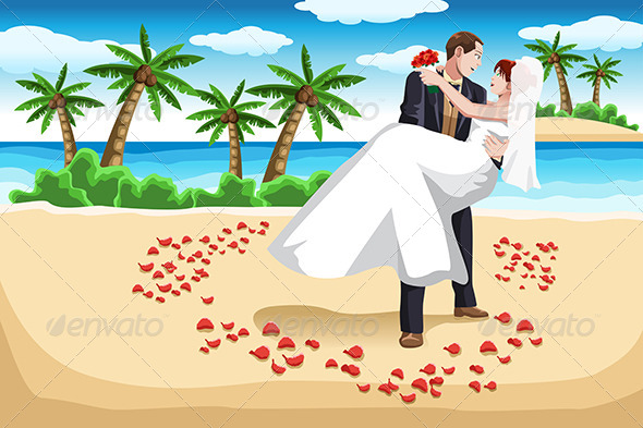 GraphicRiver Beach Wedding 6648412