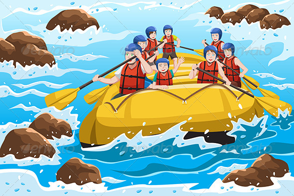 GraphicRiver People Rafting 6648484