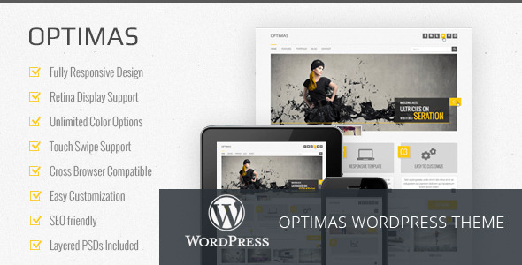 Optimas - Responsive WordPress theme