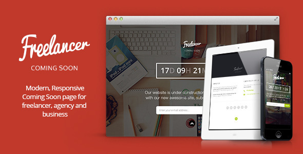 ThemeForest Freelancer Responsive Coming Soon Template 6619870
