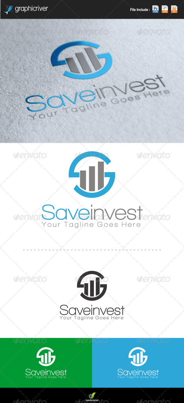 GraphicRiver Save Invest Logo 6648636