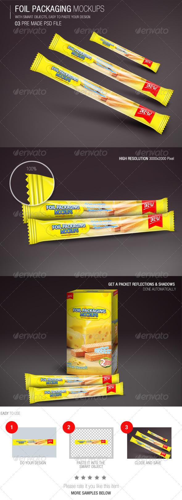 GraphicRiver Foil Packaging Mockups Vol.3 6648667